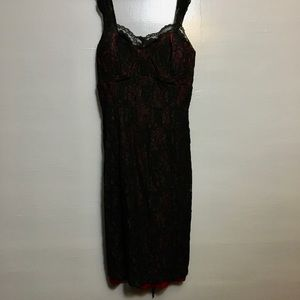 Black lace and burgundy dress — Nearly new!